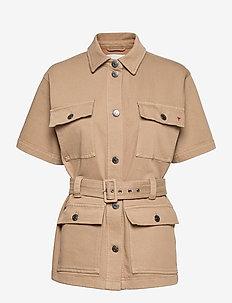 Mandela SS pocket jacket Khaki - utilityjackor - khaki