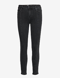 Dylan MW cropped original black - dżinsy skinny fit - black