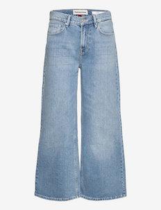 Kersee HW cropped wash Hong Kong - broeken met wijde pijpen - denim blue