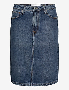 Hepburn denim skirt wash Oxford - jeansröcke - 51 denim blue