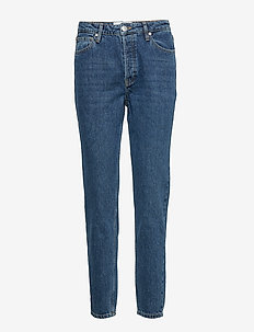 Hepburn HW mom wash Bright Orlando - mor jeans - denim blue