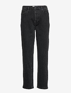 Mandela HW straight jeans original black - BLACK