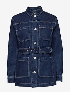 Mandela uniform jacket dark Oxford - DENIM BLUE