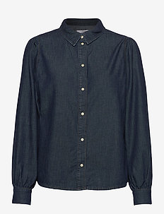 Hepburn puff shirt original denim - overhemden met lange mouwen - denim blue