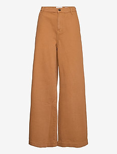 Kersee french jeans antique colour - hosen mit weitem bein - brown