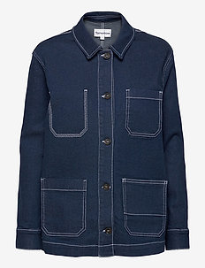 Lincoln jacket Raw indigo - jeansjacken - denim blue