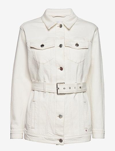 Malcolm belt jacket - vestes en jean - ecru