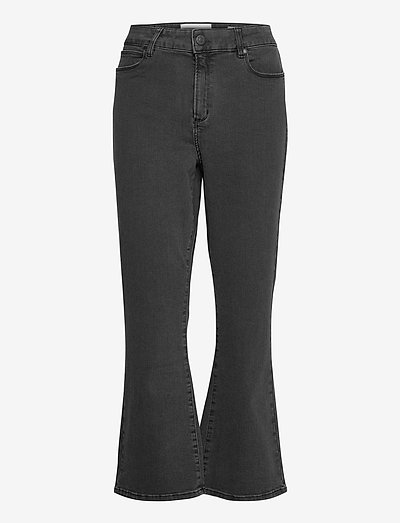 Malcolm kick flare wash Charcoal - flared jeans - charcoal grey