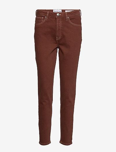 Hepburn HW mom coffee brown - mom jeans - coffee brown