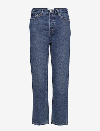 Mandela HW straight jeans wash Oxford - straight jeans - 51 denim blue