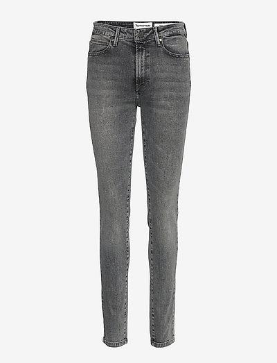 Bowie HW cropped vintage grey - skinny jeans - grey