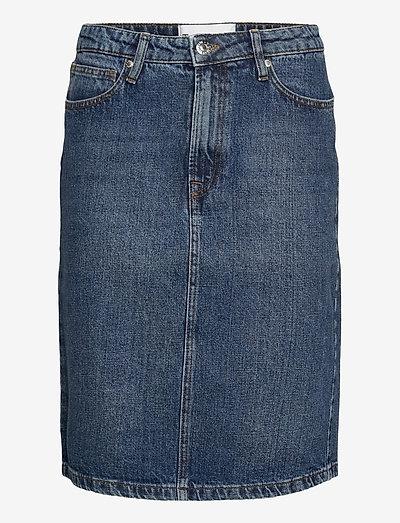 Hepburn denim skirt wash Oxford - denimnederdele - 51 denim blue