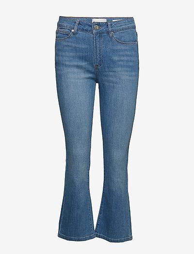 Malcolm kick flare wash London - utsvängda jeans - denim blue