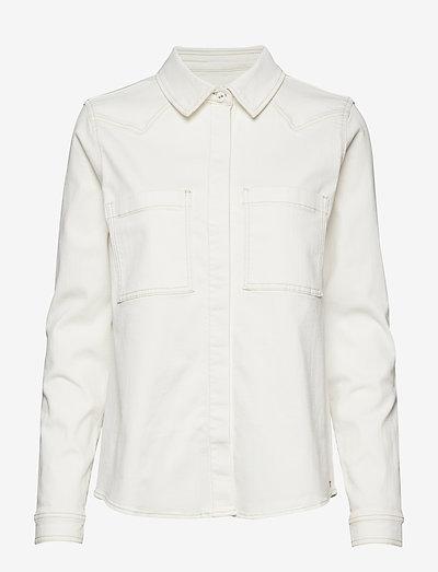 Bowie Ecru shirt - langærmede skjorter - ecru
