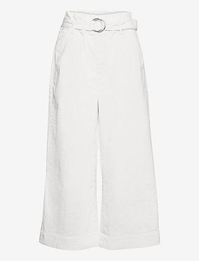 Malala tie-in pant - bukser med brede ben - ecru