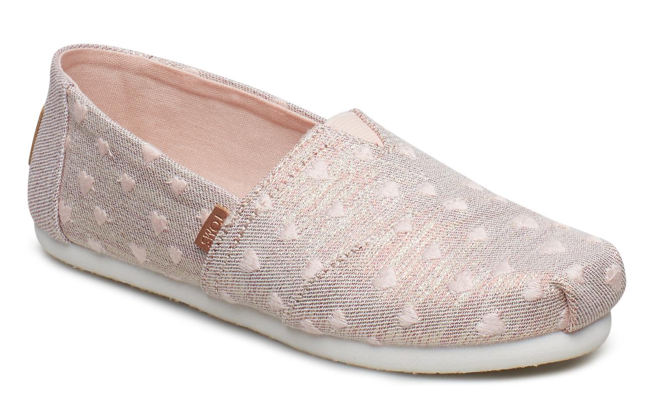 TOMS Heartsy Twill Glimmer Embroidery Alpargata - ROSE CLOUD