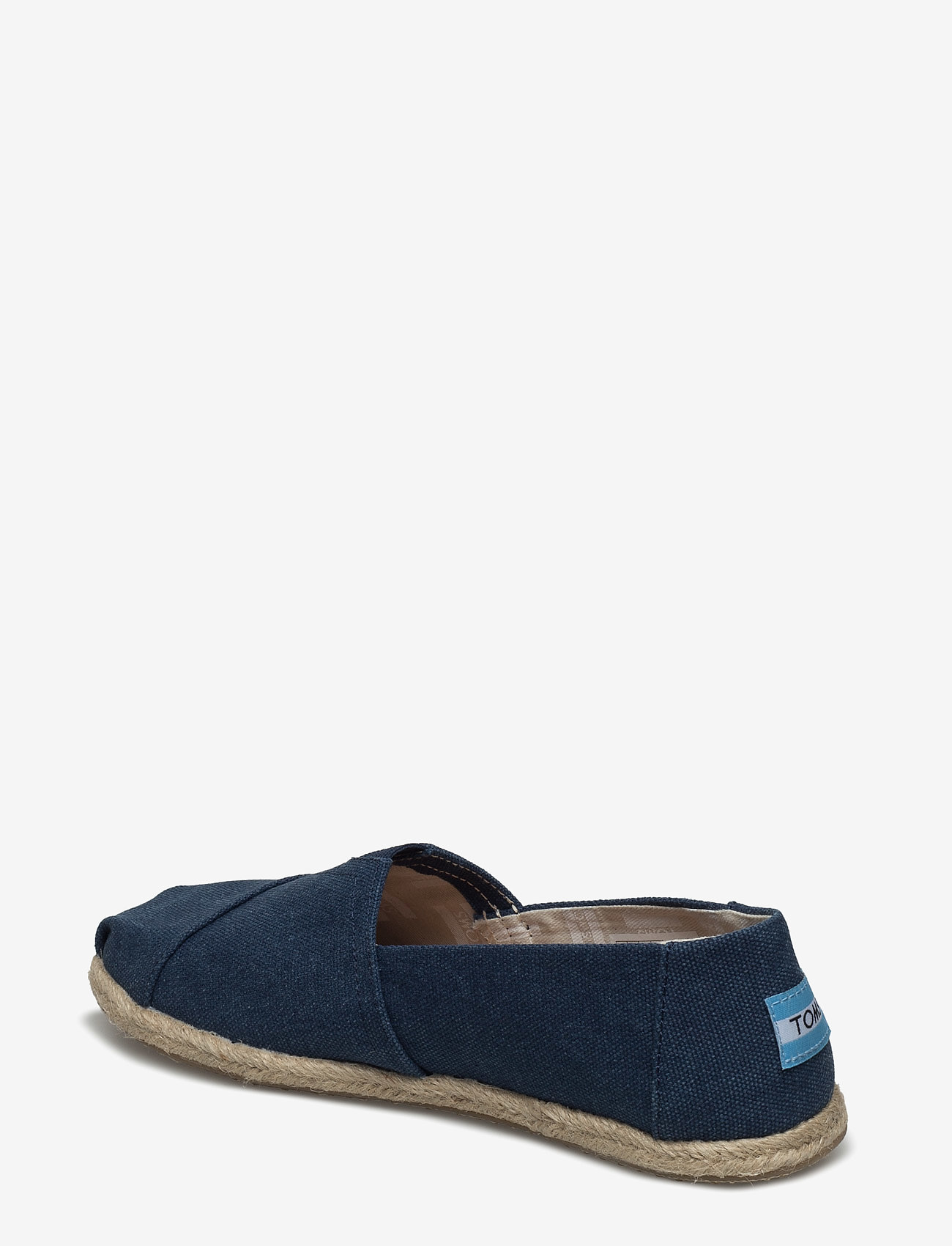 Navy Washed Canvas (Navy Washed Canvas Rope S) - TOMS