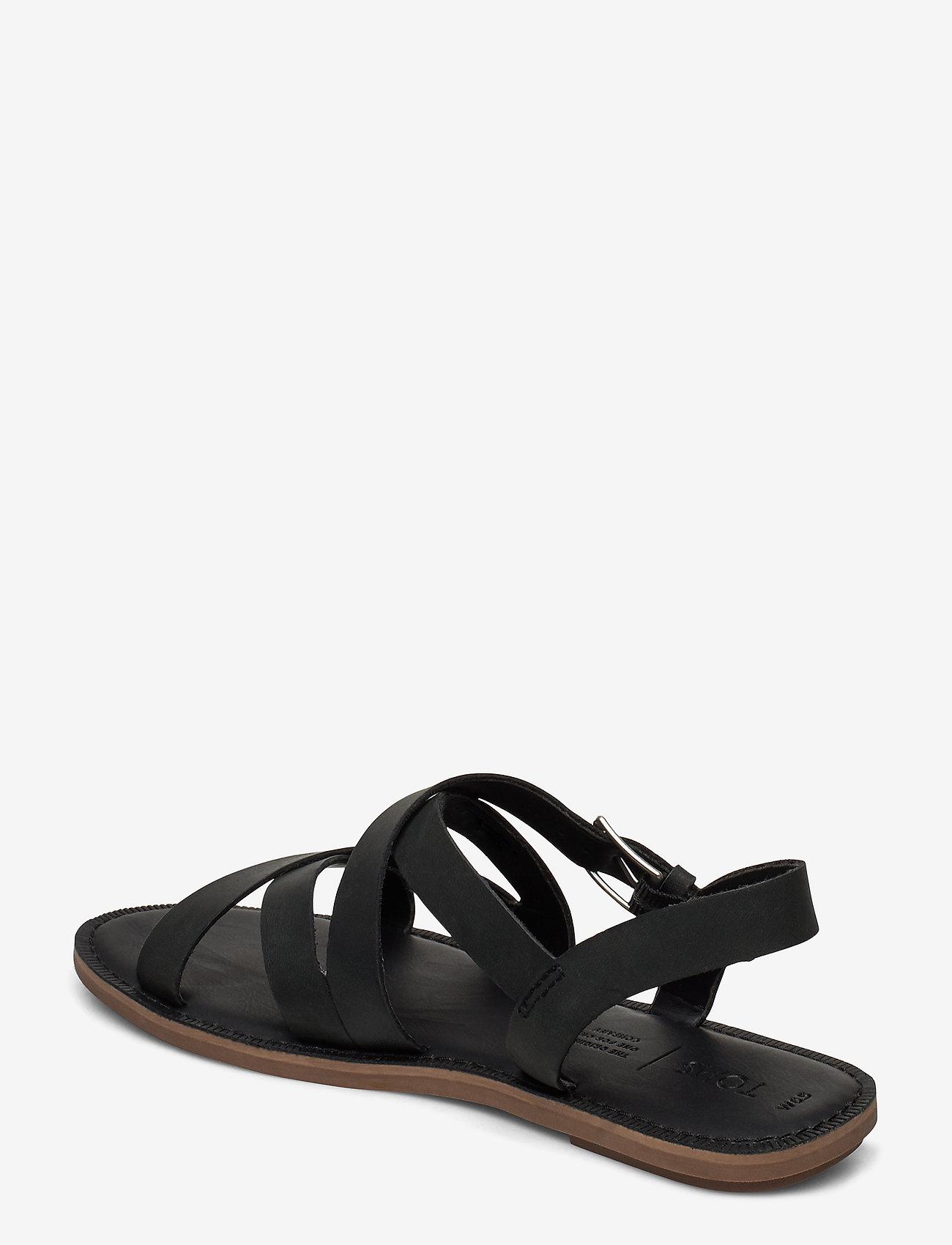 Black Leather (Black) - TOMS
