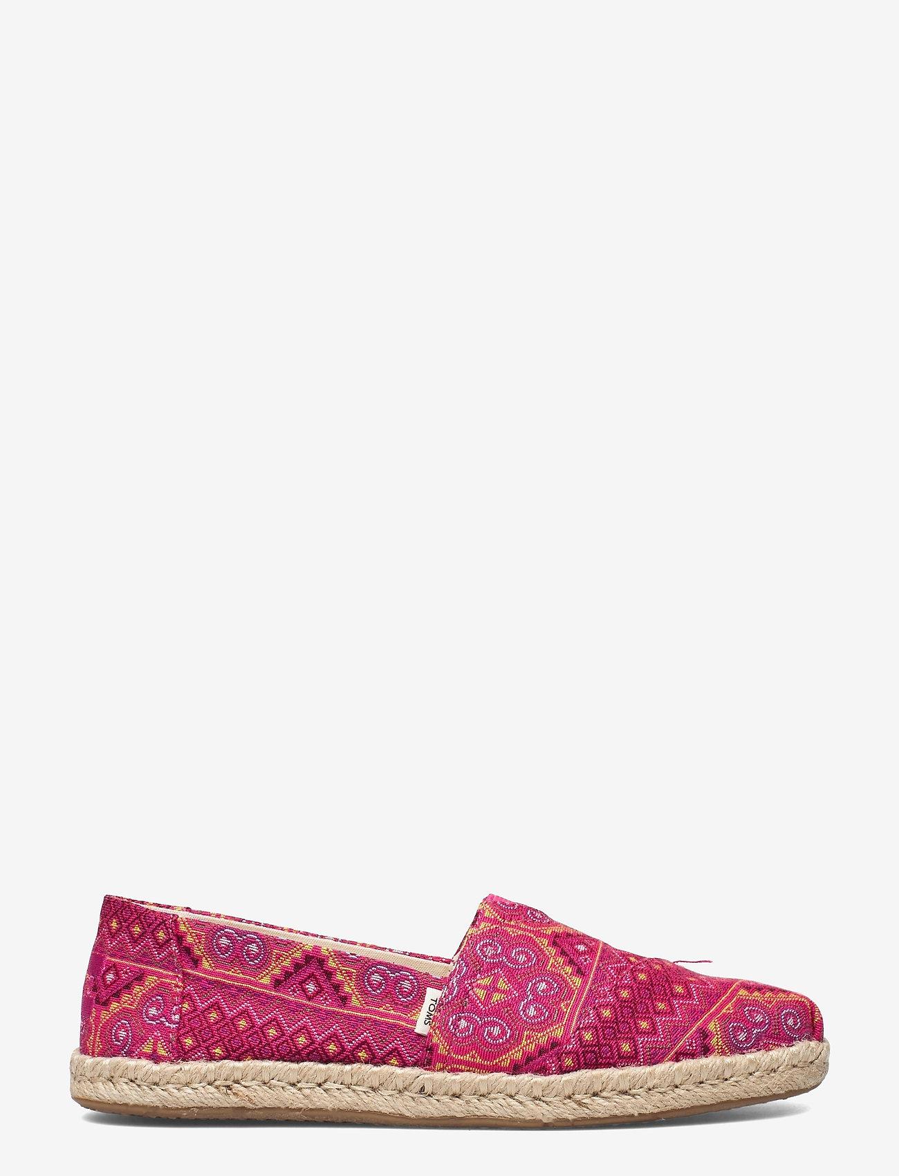 TOMS - Pink Multi Floral Woven - platta espadriller - pink - 1