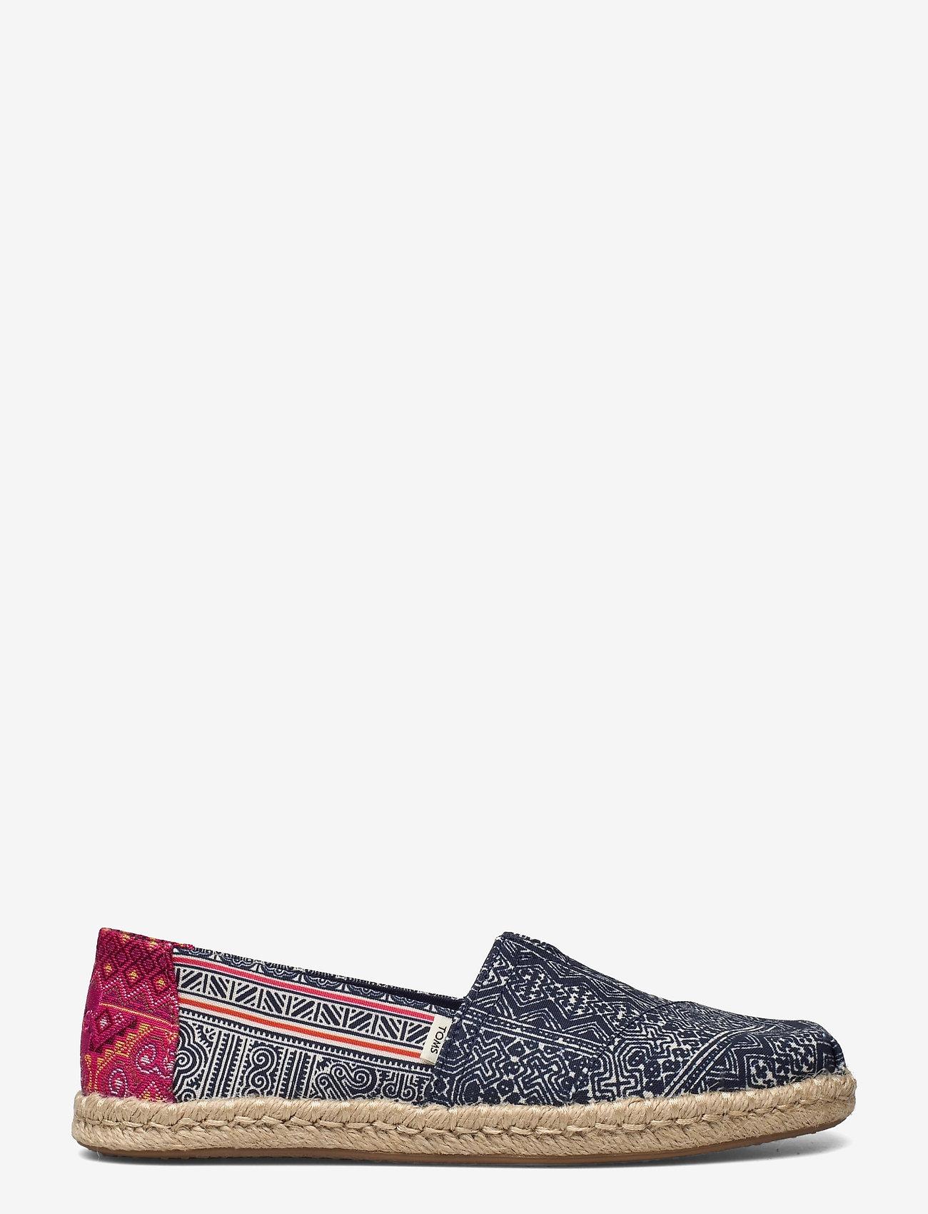 TOMS - Indigo Floral Hmong Print - platta espadriller - indigo - 1