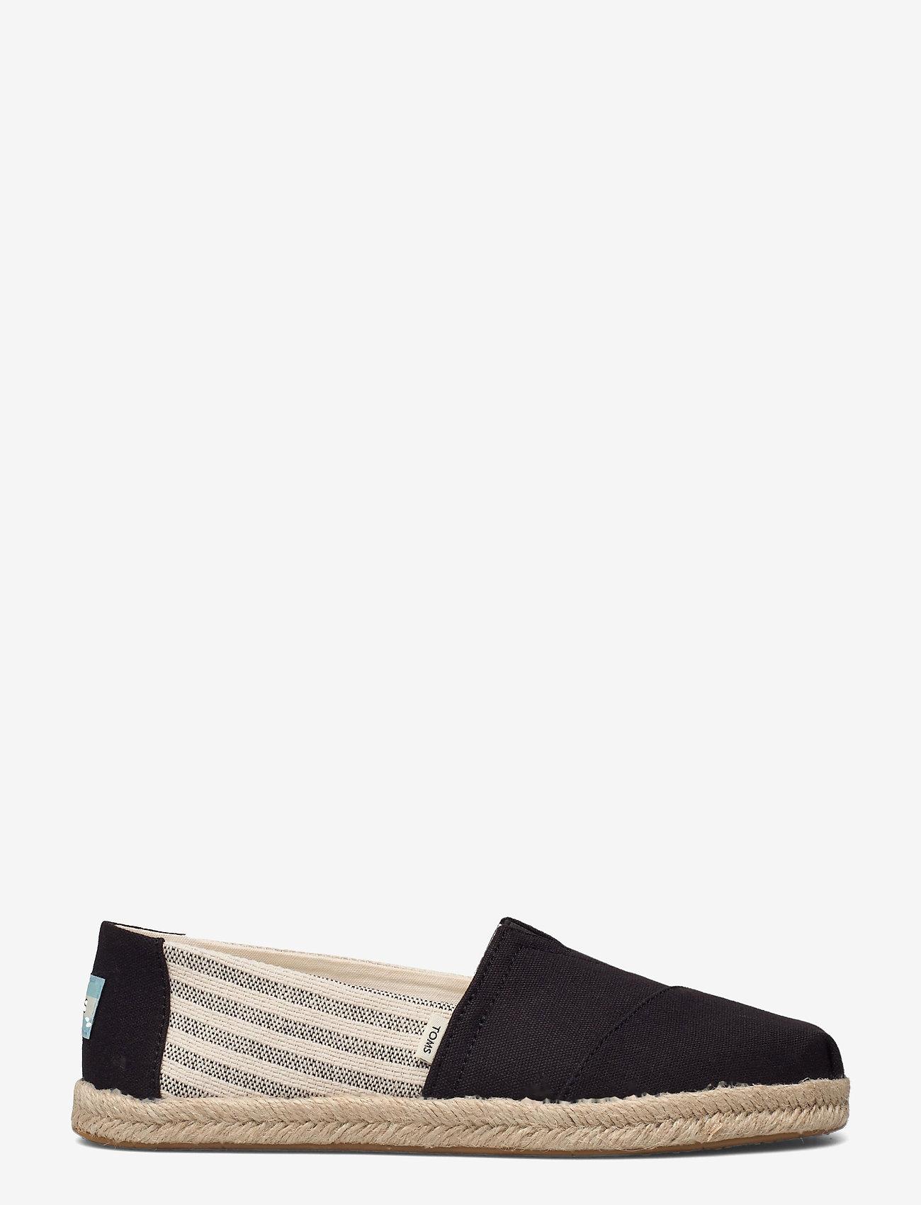 TOMS - Black University Stripes - flade espadrillos - black - 1