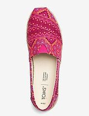 TOMS - Pink Multi Floral Woven - platta espadriller - pink - 3