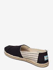 TOMS - Black University Stripes - flade espadrillos - black - 2