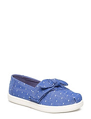 Dot Chambray/Bow Alpargata - BLUE
