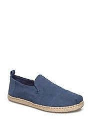 Navy Washed Canvas Espadriles - NAVY