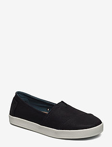 Black Coated Canvas - flade espadrillos - black coated canvas