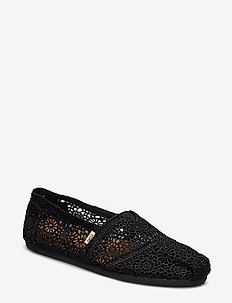 Black Moroccan Crochet - loafers - black