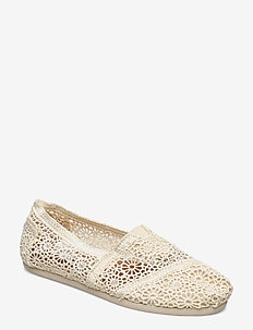 Natural Moroccan Crochet - flade espadrillos - natural