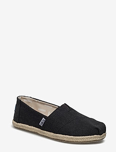 Black Washed Canvas - flade espadrillos - black washed canvas rope s