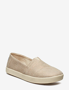 Rose Gold Metallic Woven - slip-on sneakers - rose gold