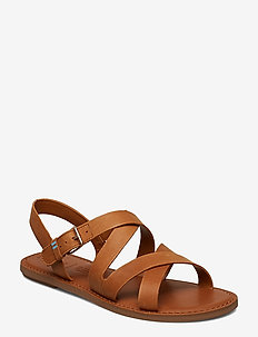 Tan Leather - flade sandaler - tan