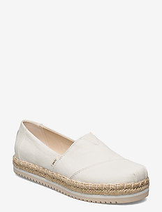 White Canvas - platta espadriller - white