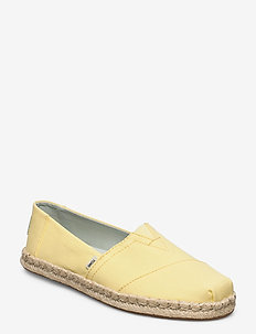 Plant Dyed Yellow Canvas/Rope - flade espadrillos - plant dyed yellow