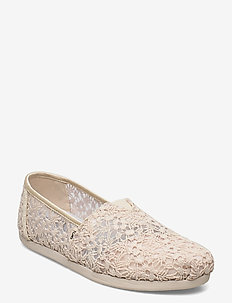 Natural Floral Lace - flade espadrillos - natural