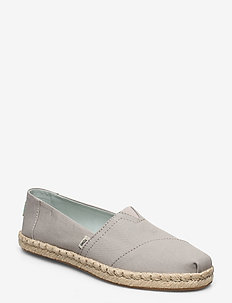 Plant Dyed Grey Canvas/Rope - flade espadrillos - plant dyed grey