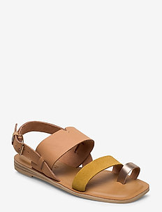 Honey/Amber Gold Leather/Suede - flade sandaler - honey/amber gold