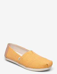 Golden Yellow Eco Dyed Twill - loafers - yellow