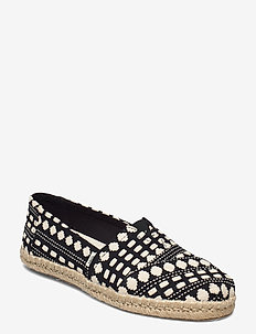 Black Global Woven - platta espadriller - black