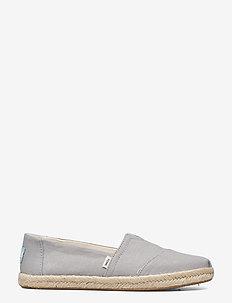 Drizzle Grey Slubby Woven - platta espadriller - grey