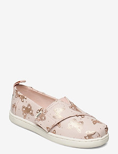 Peony Subtle Metallic Foil Butterflies - lave sneakers - pink