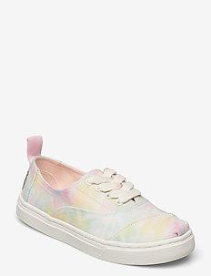 White Tie Dye Canvas - lave sneakers - white