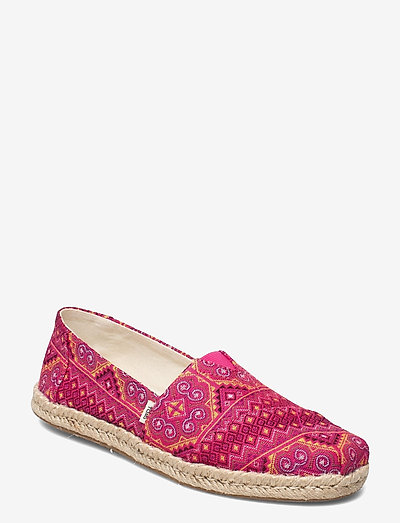 Pink Multi Floral Woven - platta espadriller - pink