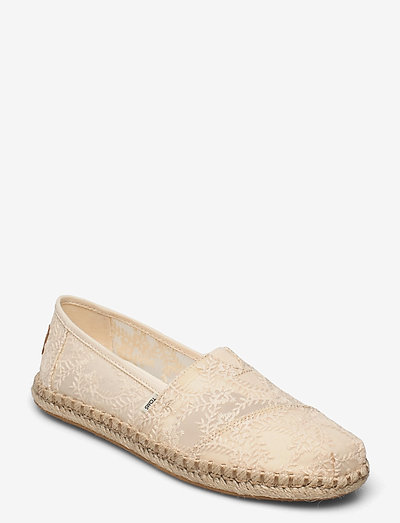 Natural Hibiscus Floral Lace - loafers - natural