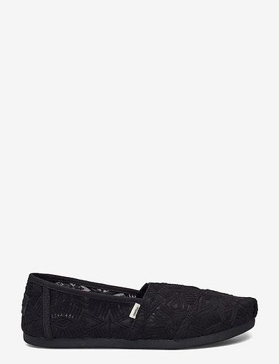 Black Geo Lace - loafers - black