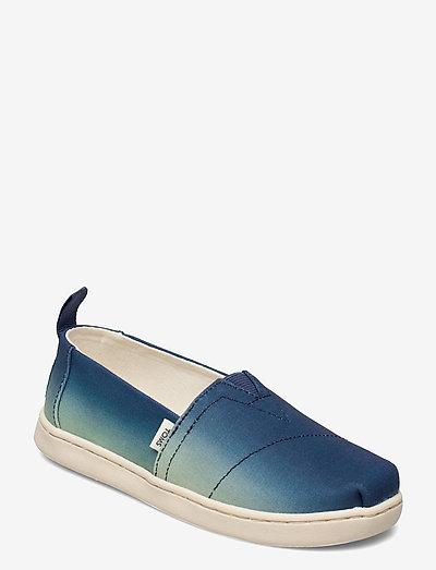 Indigo Multi Gradient Canvas - låga sneakers - indigo