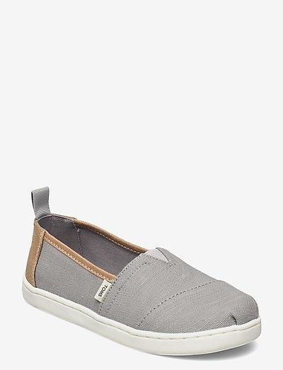 Drizzle Grey Slubby Woven - låga sneakers - grey